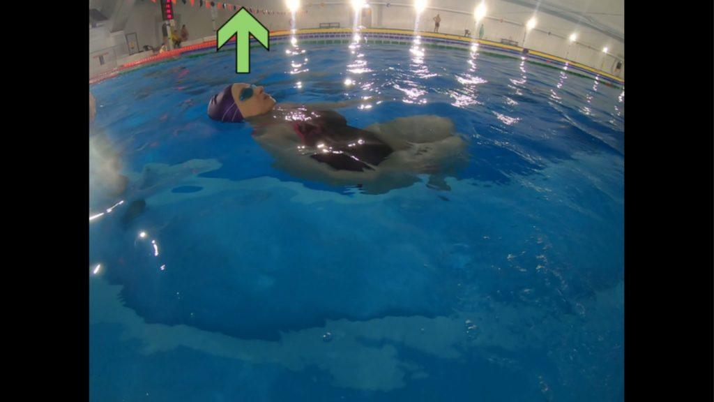 Pozycja głowy w leżeniu na plecach w wodzie