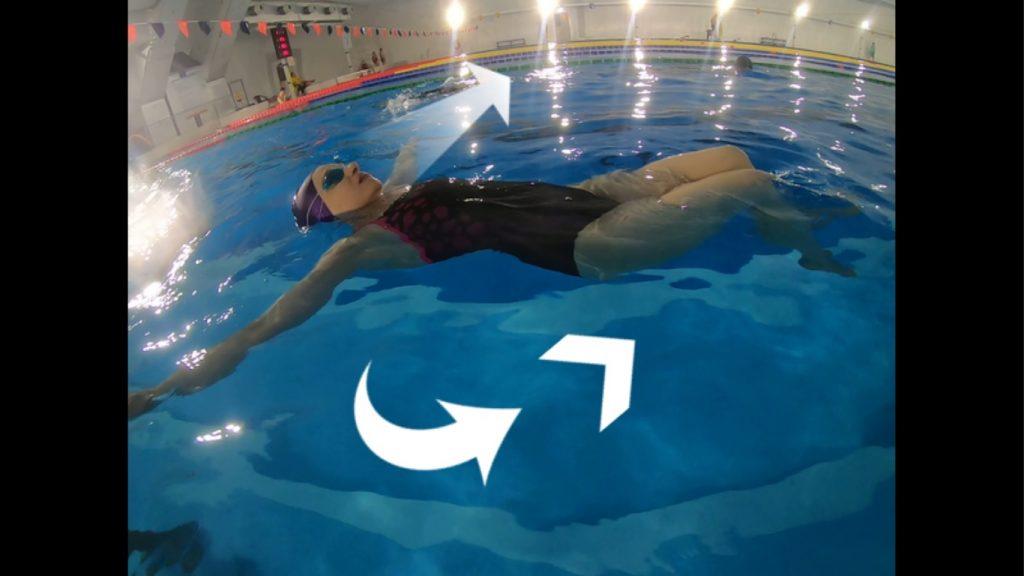 Wstawanie z leżenia na plecach na wodzie